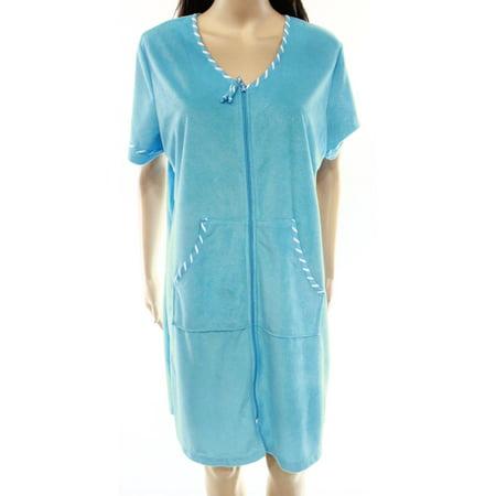 9762a5a98 Jasmine Rose - Jasmine Rose NEW Blue Women's Size Large L Full-Zip ...