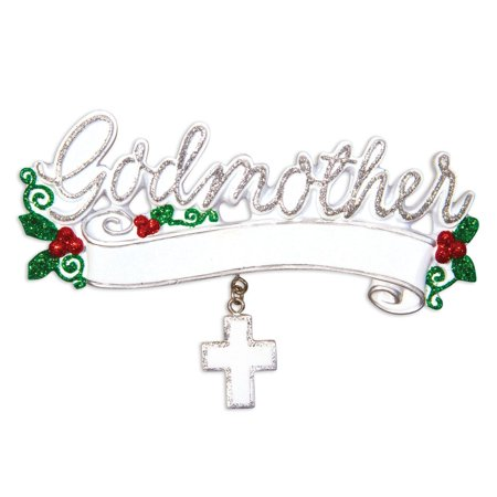 Religious GODMOTHER Personalized Christmas Ornament DO-IT-YOURSELF