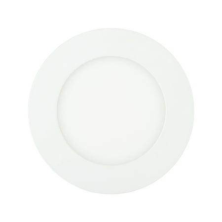 312 Ultra Flush - TKOOFN 6W LED Recessed Panel Light Flush Mount Ceiling Light Ultra Slim Round Downlight White