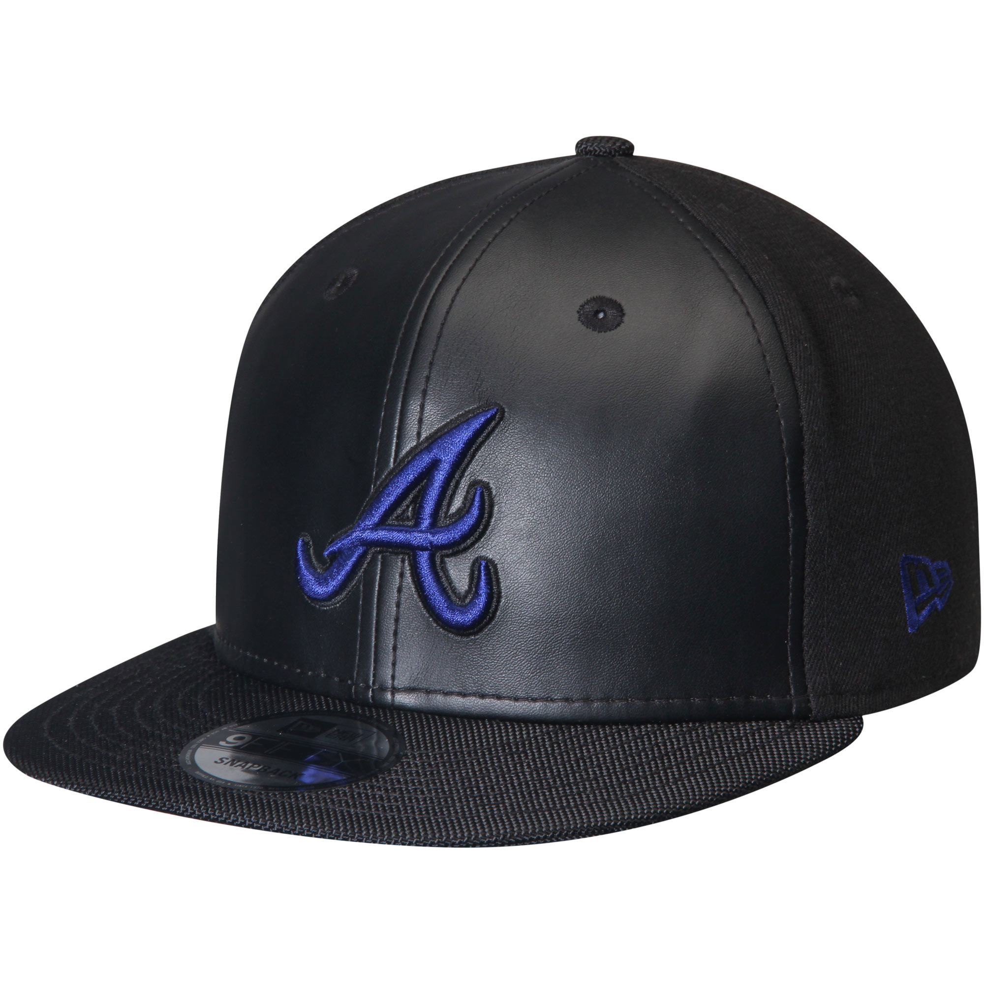Atlanta Braves New Era Space Hook 9FIFTY Adjustable Snapback Hat - Black - OSFA