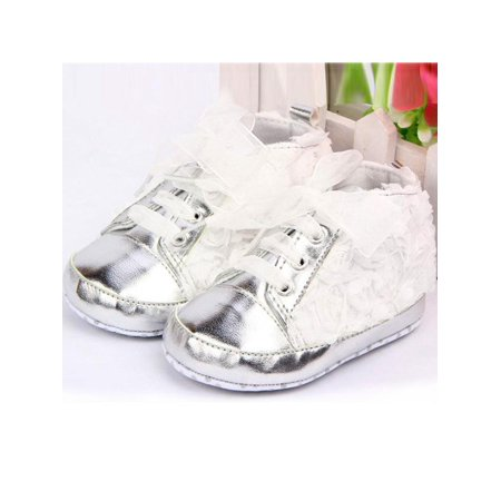 8feaeb0a77eb9 VICOODA - VICOODA Infant Baby Girls Soft Shoes Sole Rose Kids Lace Flowers  Princess Crib Shoes First Walkers - Walmart.com