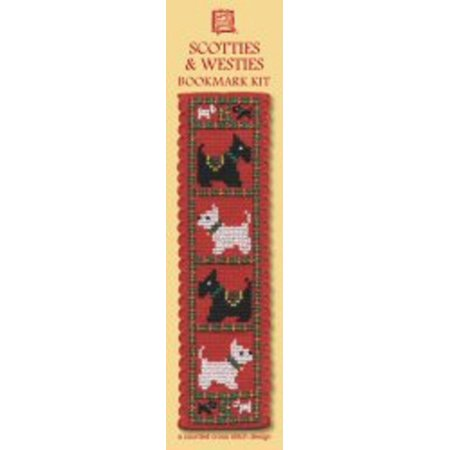 Textile Heritage Counted Cross Stitch Bookmark Kit - Scotties & - Halloween Cross Stitch Bookmark