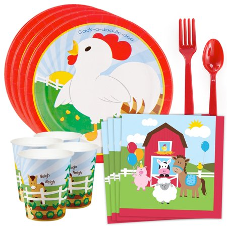 barnyard standard tableware kit (serves 8) ()