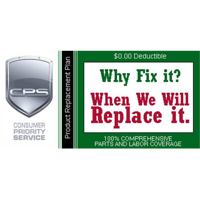 Consumer Priority Service RPL1-400 1 Year Product Replacement under $400. 00