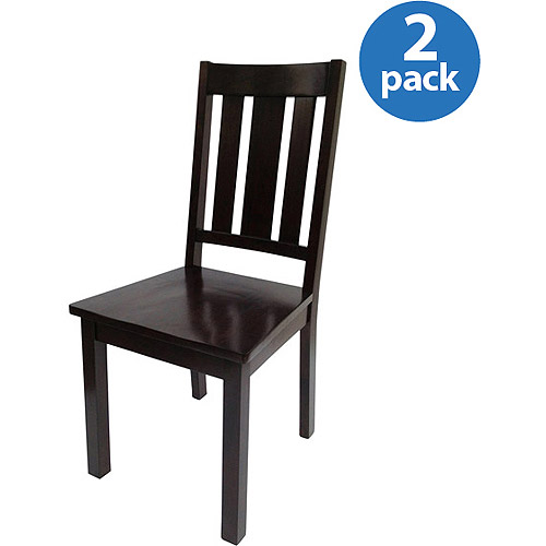 Better Homes and Gardens Mission Chairs, Set of 2, Mocha