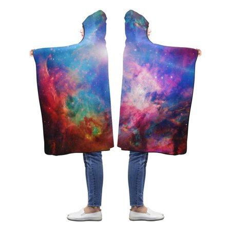 HATIART Galaxy Space Wearable Hooded Blanket 50x60 inches Kids Girls Boys Toddler Blankets with Hood - image 1 de 2