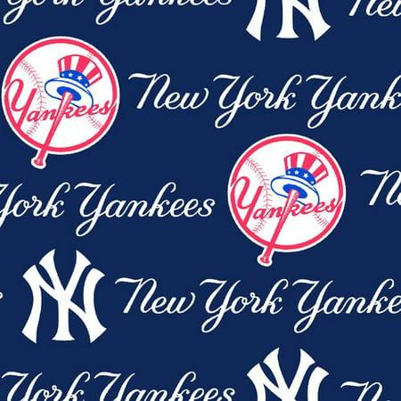 outlet store c5c86 99dda MLB New York Yankees Fleece Fabric, per Yard - Walmart.com