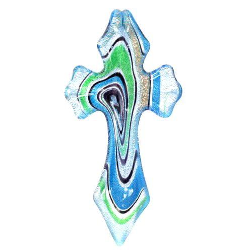 Blue Moon Beads Glass Cross Charm