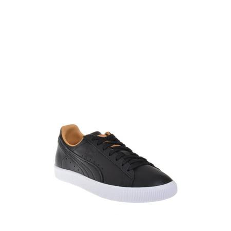 Puma Clyde Core Leather Womens Sneaker - - Puma Black Sneakers