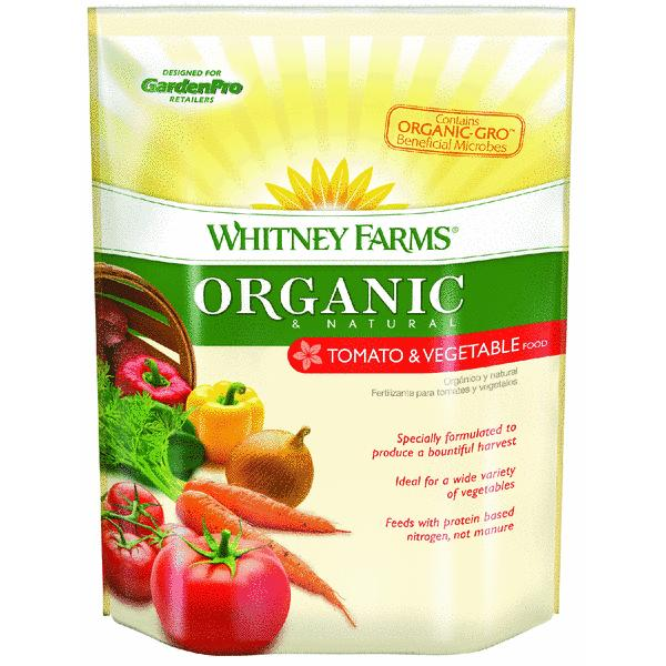 Whitney Farms Organic And Natural Tomato And Vegetable Dry Plant Food