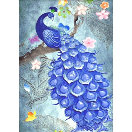 5D DIY Diamond Painting Peacock Scenery Cross Stitch Square Diamond Embroidery Paint Wall Craft Decor without