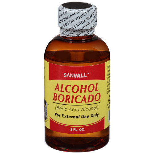Sanvall Alcohol Boricado, 2 fl oz