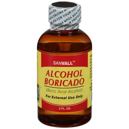 Sanvall Alcohol Boricado, 2 fl oz