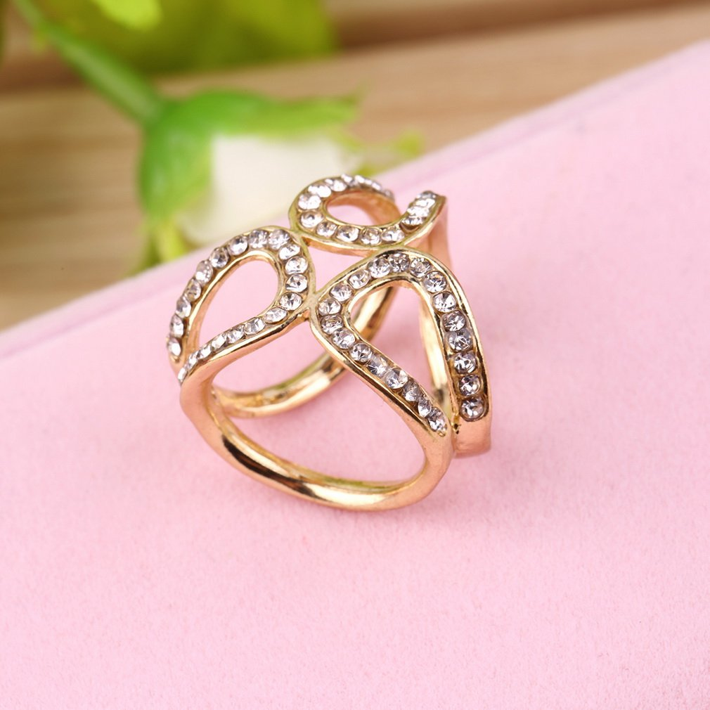 Scarf Buckle Wedding Tricyclic Ring Brooch Flower Lapel Breastpin ...