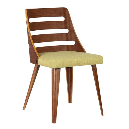 Armen Living Storm Mid-Century Dining Chair in Walnut Wood ...
