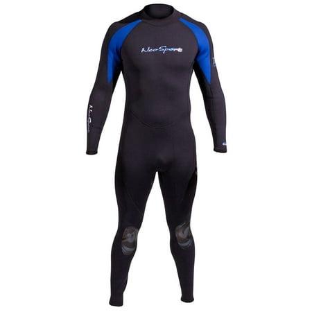 - Neosport Mens 5mm XSPAN Fullsuit (Black / Blue, Small)