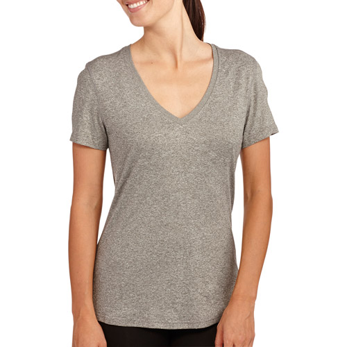 Danskin Now Women's Soft Performance Vneck T-Shirt With Wicking
