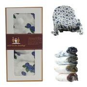 Miracle Baby Soft & Versatile 100% Bamboo Swaddle Blanket, 47 x 47, Large