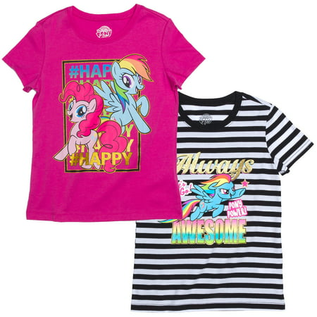 Rainbow Dash Graphic T-Shirts, 2-Pack Set (Little Girls & Big Girls)