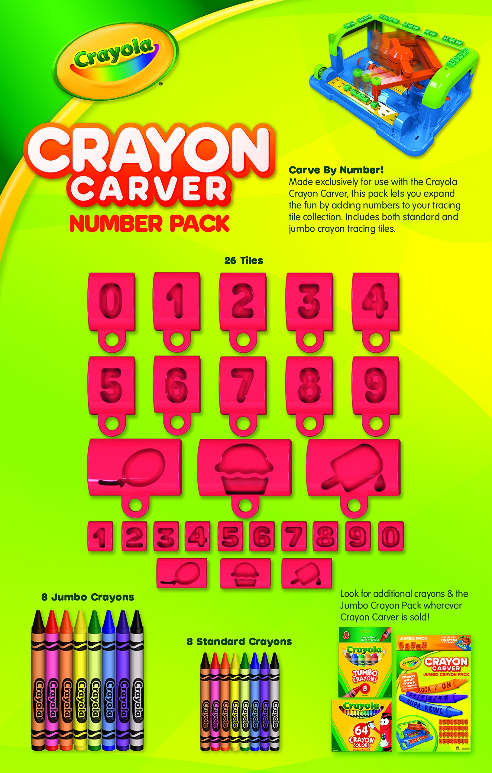 Crayola Crayon Carver, Numbers Expansion Pack