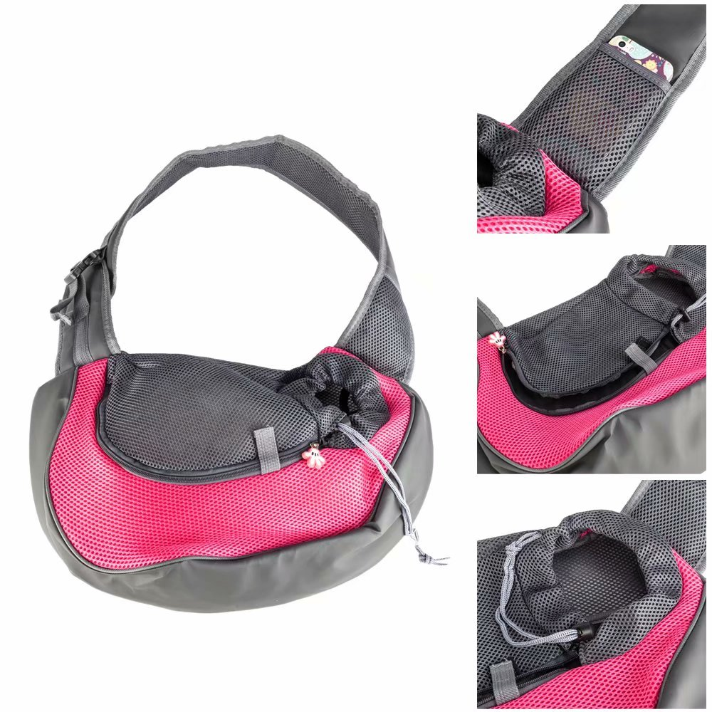 Dog And Cat Sling Carrier Hands Free Reversible Pet
