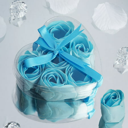 BalsaCircle Gift Boxes with 6 Rose Soaps Wedding Favors - Party Gifts Decorations Supplies Floral Favor Boxes