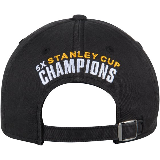 91c2712cbf9 Pittsburgh Penguins Reebok 5-Time Champs Slouch Adjustable Hat - Black Gold  - OSFA - Walmart.com