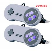 2.Pieces Of SNES Classic USB Super Nintendo Game Controller Gamepad For Windows Pc/mac