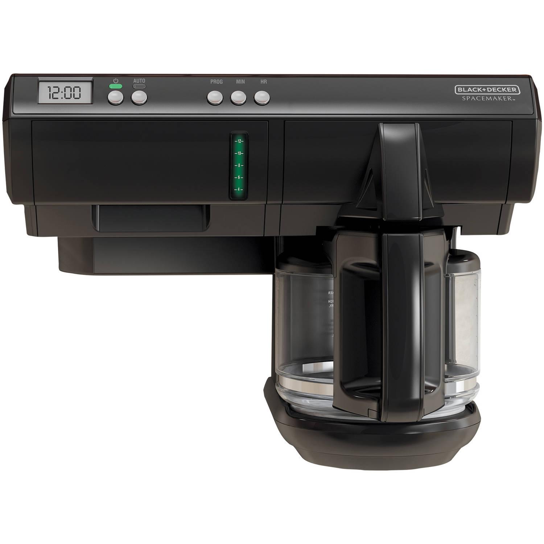 BLACK+DECKER Spacemaker Coffee Maker, Glass Carafe, SCM1000BD