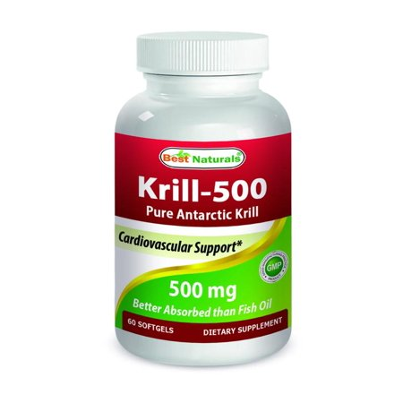 Best Naturals Krill Oil 500 mg 60 Softgels (Best Form Of Omega 3 Supplement)