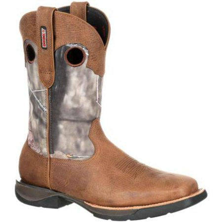 Rocky RKW0154 Lightweight Waterproof Camo Western Square Toe Cowboy Boot  RKW0154 - Walmart.com