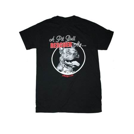 A Pit Bull Rescued Me Mens Tee Pitbull Gift, (Were Pit Bulls Bred To Be Nannies)