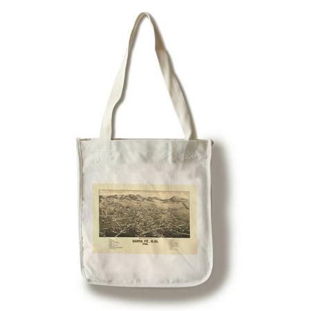 Santa Fe Bag (Santa Fe, New Mexico - (1882) - Panoramic Map (100% Cotton Tote Bag -)
