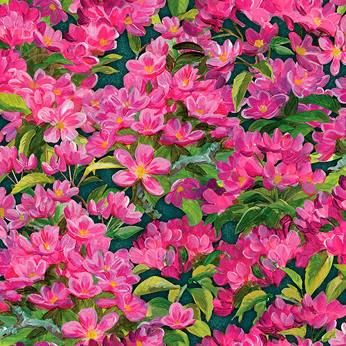 Wild Wings Simple Pleasure Floral All Over Fabric