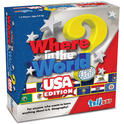 Talicor Where In The World? Game, USA Edition
