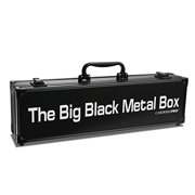 The Big Black Metal Box, Compatible with Cards Against Humanity, Magic The Gathering, MTG, (Game Not Included)   Includes 8 Dividers   (Long Version) Fits up to 1400 Loose Unsleeved Cards