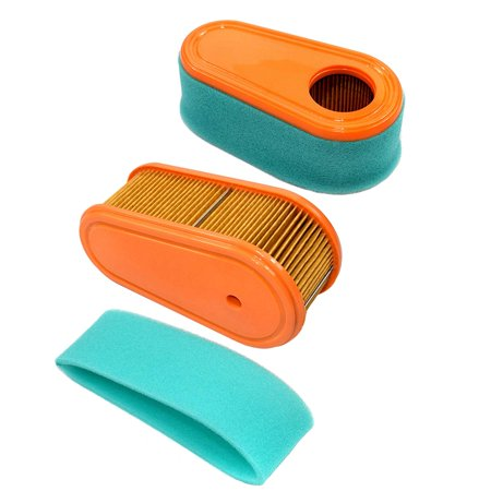 HQRP 2-pack Air Filter Kit for MTD Columbia 11A-A40X897, 11A-B0BA897, 11A-B29Q897, 12ABD29V897 Walk-Behind Mower (Cartridge & Pre-Cleaner) + HQRP (Columbia Air)