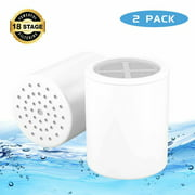 WiseWater 18-Stage Shower Filter Replacement Cartridge for Universal Shower Filter  (Pack of 2)