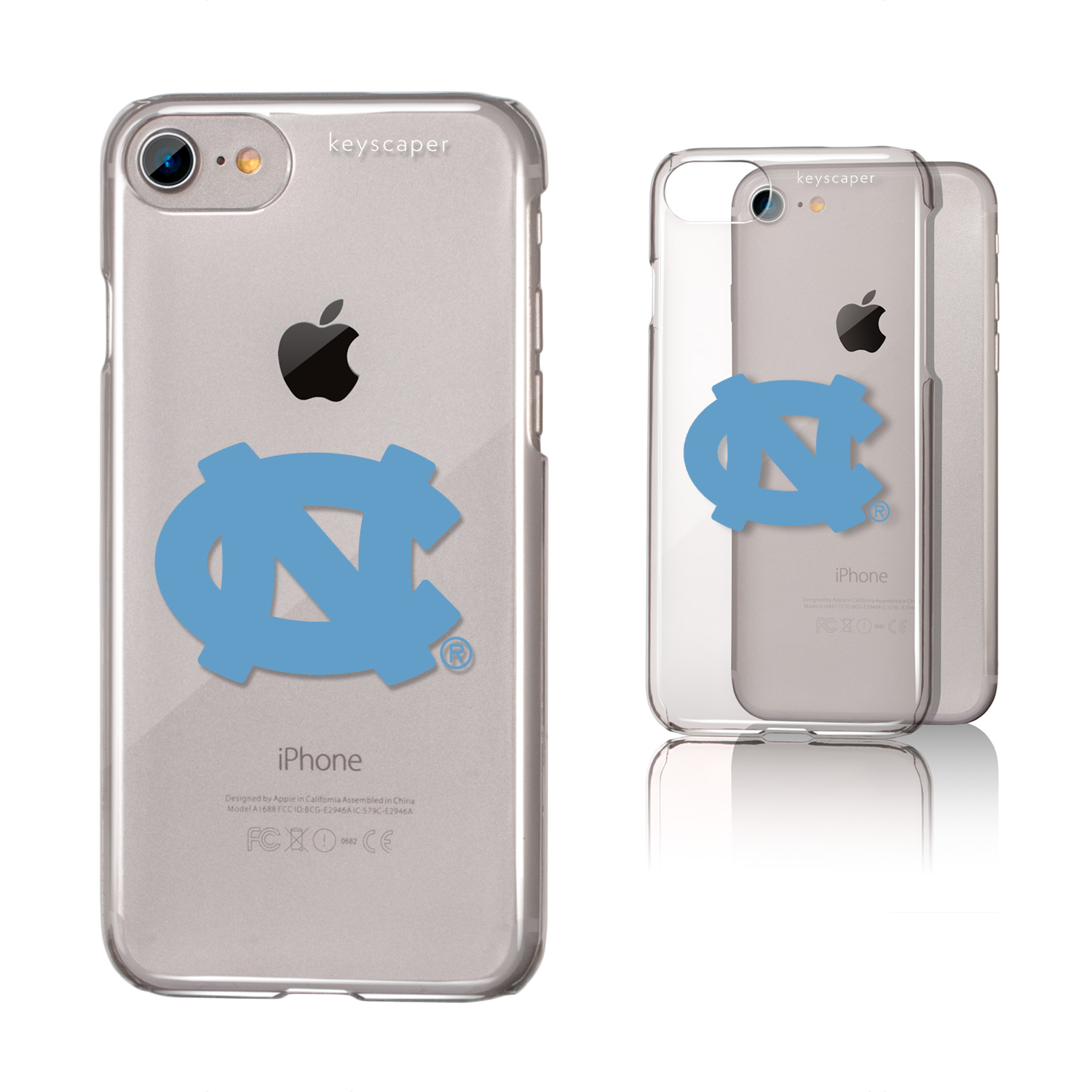 North Carolina Tar Heels Clear Case for the iPhone 6 / 6S / 7 / 8 NCAA