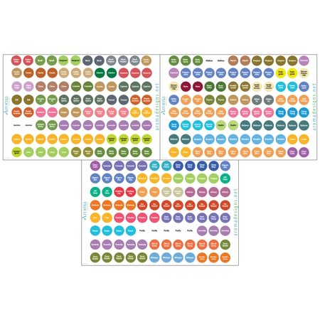 doTERRA Essential Oils Labels - Includes ALL OILS as of Spring 2017 - Includes Multiple doTERRA Bottle Cap Stickers for ALL doTERRA Oils - Perfect Lid Stickers to Keep Your Oils