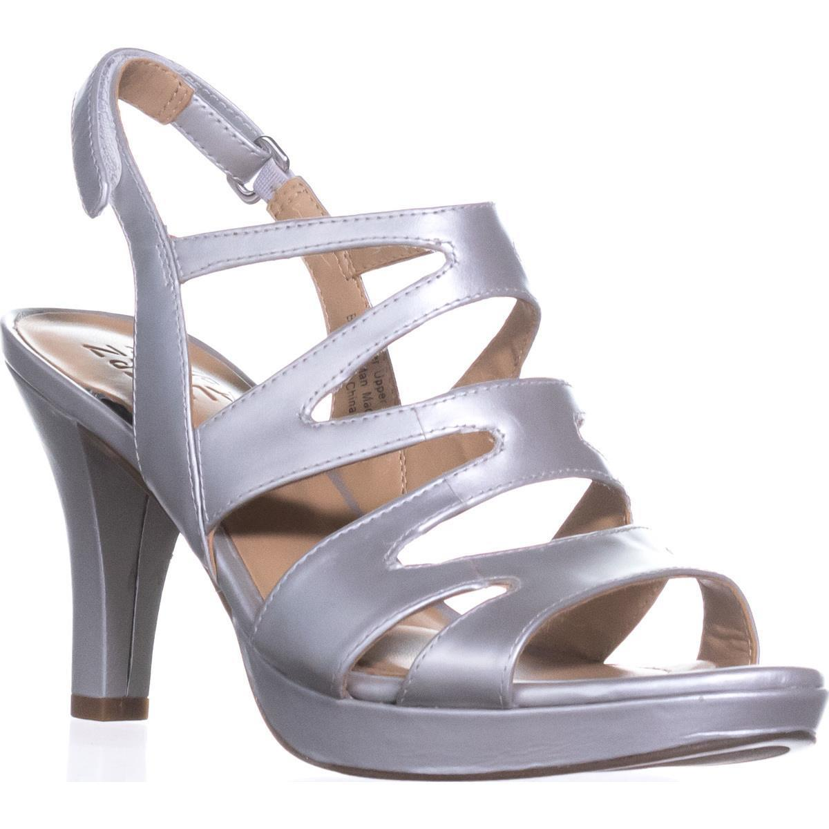 Womens Naturalizer Pressley Platform Strappy Dress Sandals, Soft Silver by Naturalizer