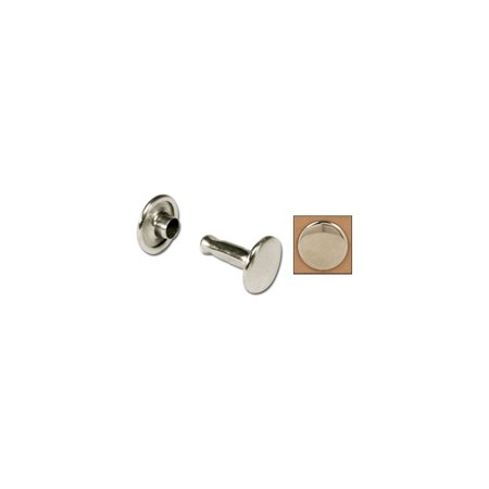 Medium Nickel Plated 100 Pack Of Double Cap Rivets 1373-12