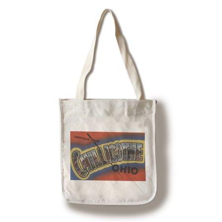 Chillicothe, Ohio - Large Letter Scenes (100% Cotton Tote Bag - - Party City Chillicothe Ohio