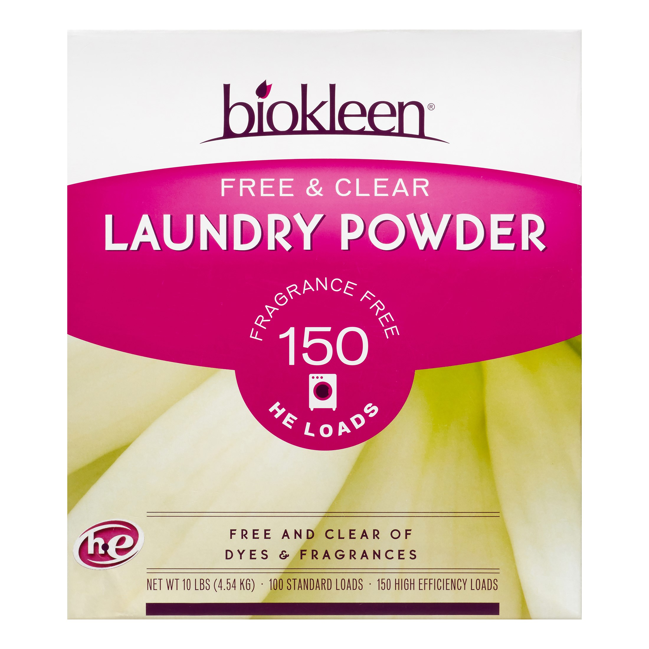 Biokleen Free & Clear Laundry Detergent, Unscented, 100 Loads