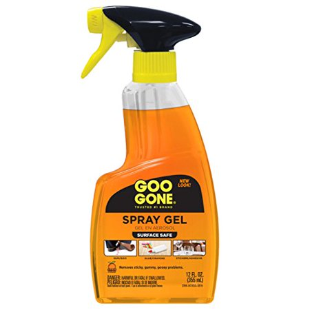Goo Gone Original Spray Gel - Removes Chewing Gum, Grease, Tar, Stickers, Labels, Tape Residue, Oil, Blood, Lipstick, Mascara, Shoe polish, Crayon, etc. - 12 fl. (Best Way To Remove Gel Polish)