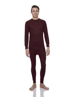 Rocky Men's Thermal 2pc Set Long John Underwear (3Xlarge, Black)