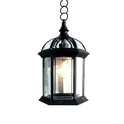 eTopLighting Contemporary Collection Exterior Outdoor Pendant Hanging Lantern with Beveled Clear Glass APL1023 ()