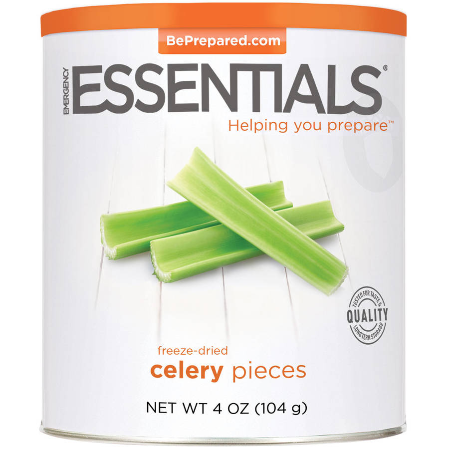 Emergency Essentials Freeze-Dried Celery Pieces, 4 oz