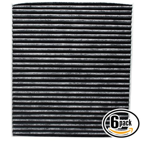 6-Pack Replacement Cabin Air Filter for 2010 Kia SPORTAGE L4 2.0L 1975cc Car/Automotive - Activated Carbon, ACF-10709