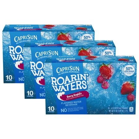 (3 Pack) Capri Sun Roarin' Waters Berry Rapids, 10 - 6 fl oz Pouches - Halloween Capri Suns